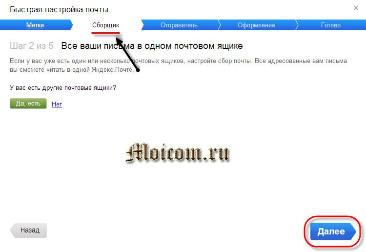 Электронная почта яндекс - сборщик
