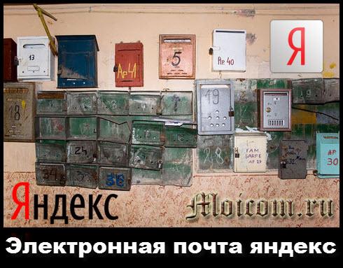 Электронная почта яндекс