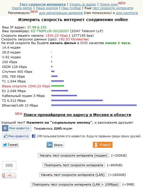 Проверка скорости Speed.yoip.ru
