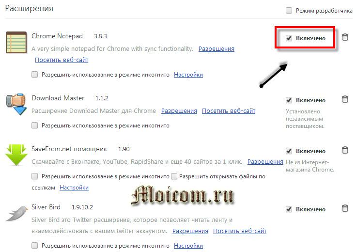 Визуальные закладки для Google Chrome - расширения