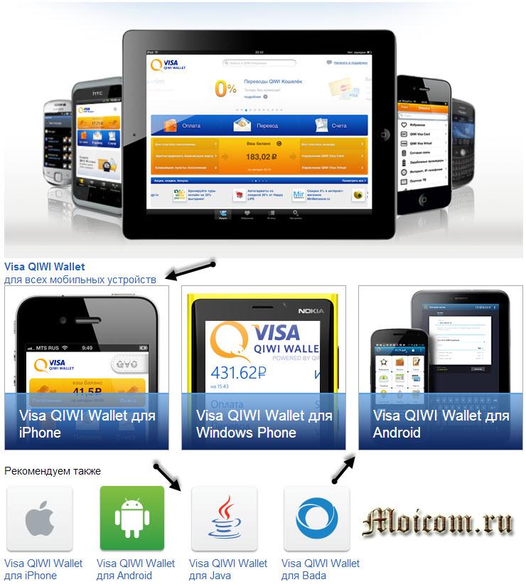 Киви кошелек регистрация - мобильные приложения