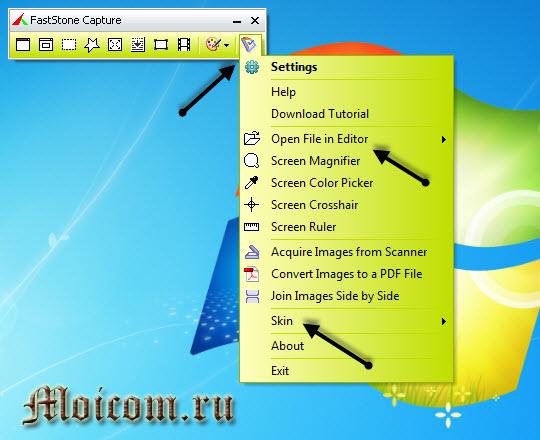 Сделать скриншот сайта - FastStone Capture, настройки