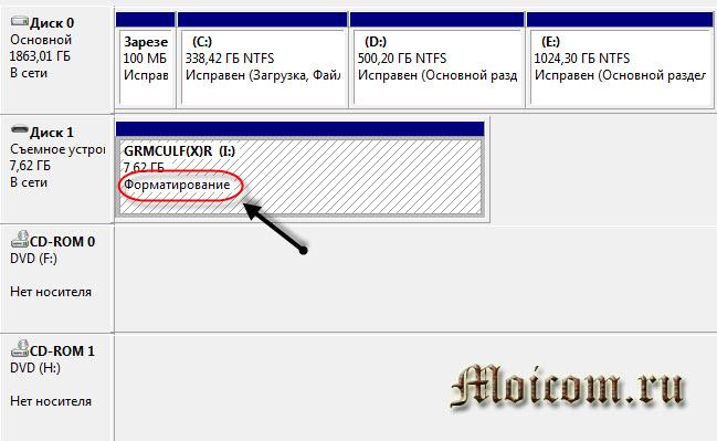 Как отформатировать флешку - управление дисками, запуск форматирования