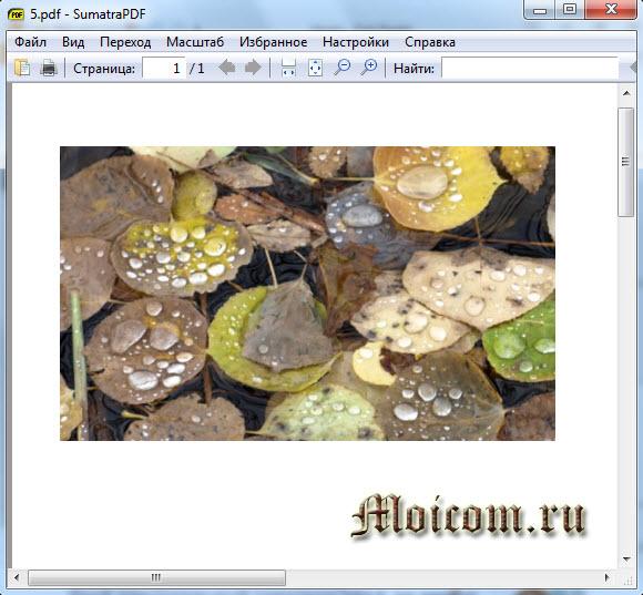 Как открыть файл pdf - Sumatra pdf
