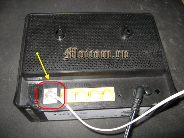 Как подключить wifi роутер - разъем DSL