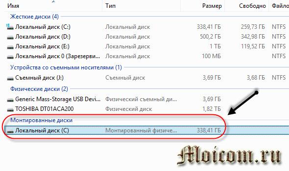 Программа для восстановления удаленных файлов - монтированный диск С