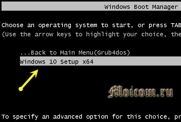 Загрузочная флешка Windows 10 - winsetupfromusb, windows 10 setup