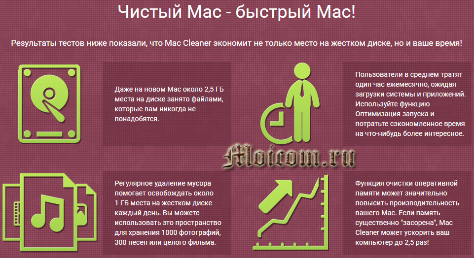 Movavi Mac Cleaner - Чистый Мак