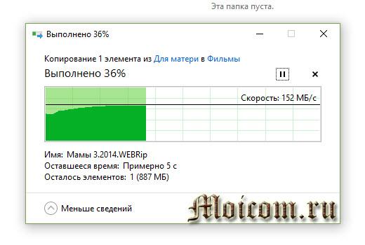 Диск-О - облачные хранилища в одной туче, скорость добавления файлов в виртуальный диск