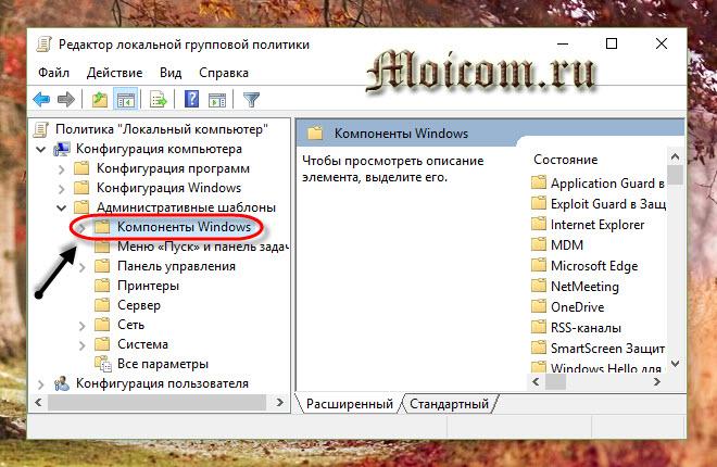 Как отключить обновление Windows 10 - локальная политика, компоненты windows