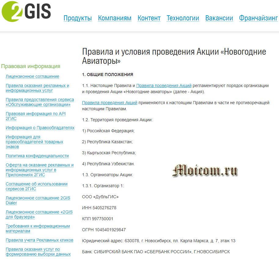 Новогодние авиаторы 2гис, newyear.2gis.ru - правила и условия