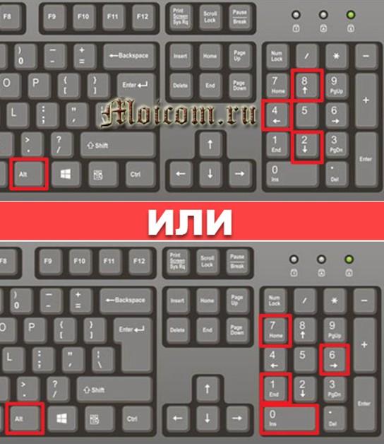как поставить знак градуса на клавиатуре - комбинации клавиш