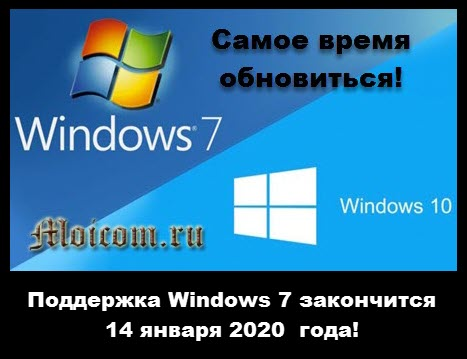 поддержка Windows 7 закончится 14 января 2020 года