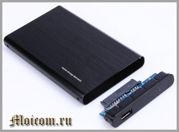 как подключить жесткий диск через USB - карман для жесткого диска