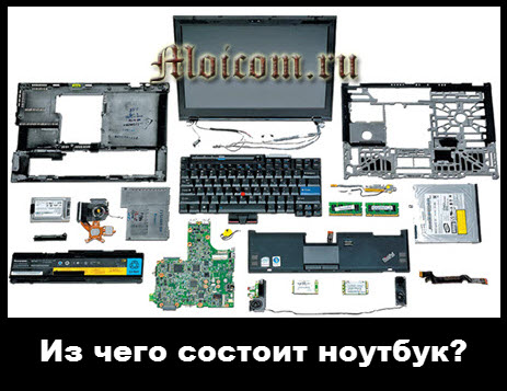 из чего состоит ноутбук