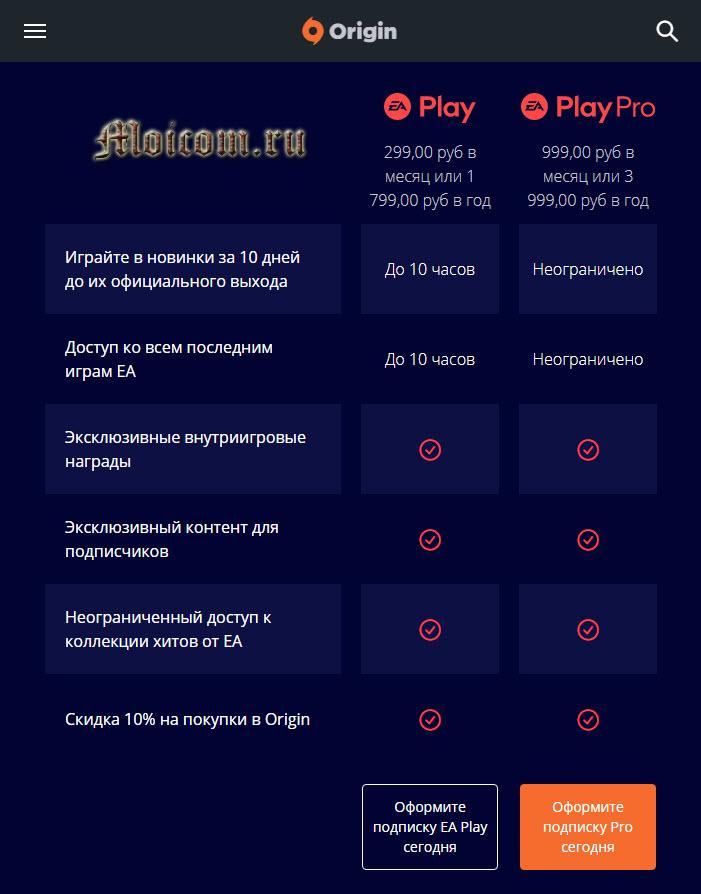 Игровой облачный сервис для игр My games cloud - подписка на сайте origin