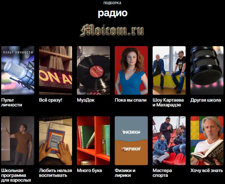 Онлайн платформа смотрим.рф - подборка радио